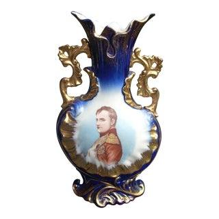 Ferrier Signed Napoleon Cobalt Vase