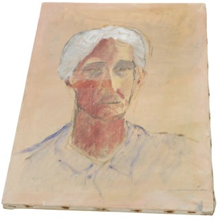 Ghosted Grandma Oil Portrait