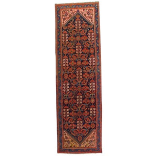 "Pasargad NY Antique Persian Hamadan Hand Knotted Wool & Cotton Area Rug - 3'4""x11'x4"""