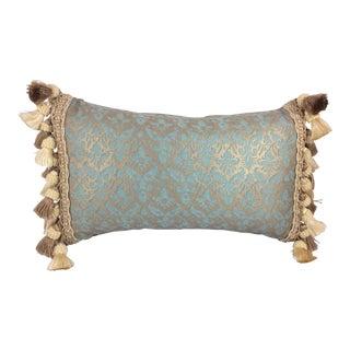 Fortuny Aqua Silk & Down Filled Pillows - A Pair