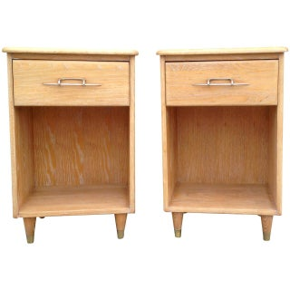 1950's Nightstands with Cerused Finish - Pair