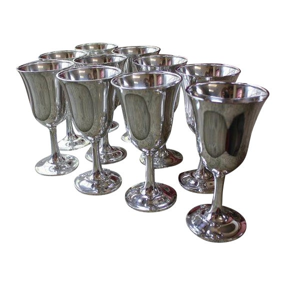 Wallace Silversmith Water Goblets - Set of 10 - Image 1 of 6