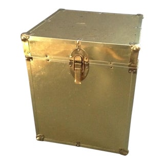 1970's Brass Clad Trunk