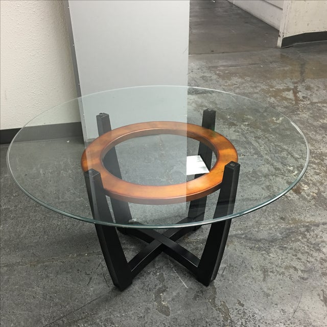 Image of Glass Top Dining Table & Chairs - Set of 5