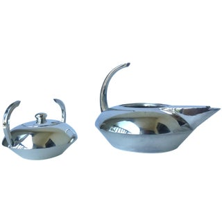 Escapade Silver Plate Coffee & Sugar - A Pair