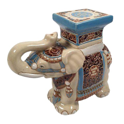 Ceramic Elephant Plant Stand - Image 1 of 4