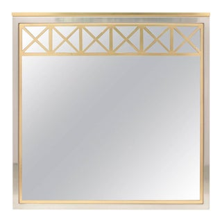 Brass and Chrome Maison Jansen Mirror