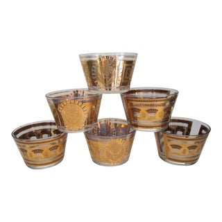 Culver Hollywood Regency Modern Snack Dishes - Set of 6