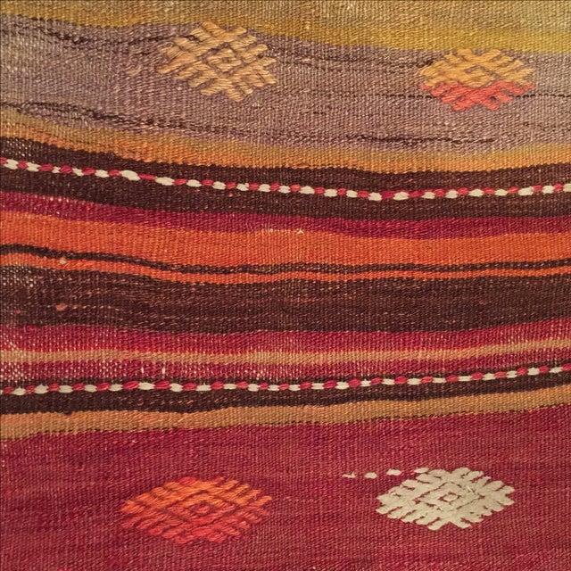 Vintage Striped Kilim Pillow - Image 4 of 5