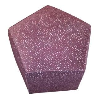 Pink Leopard Velvet Ottoman