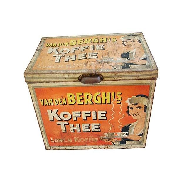 Large 1930s Van Den Berghs Koffie Coffee Tin Box - Image 6 of 7