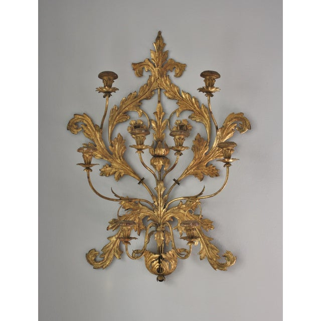 Antique Italian Wall Sconces : Antique Italian Gilt Metal Wall Sconce Chairish