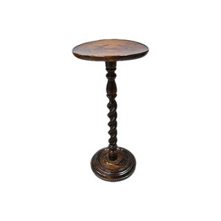 Antique English Barley Twist Wine Table