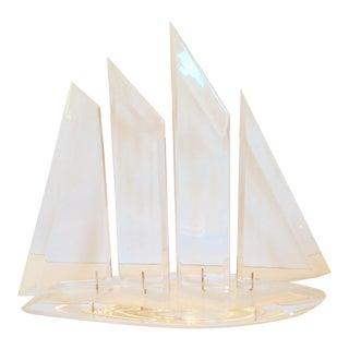 Mid-Century Modern Lucite Sailboat