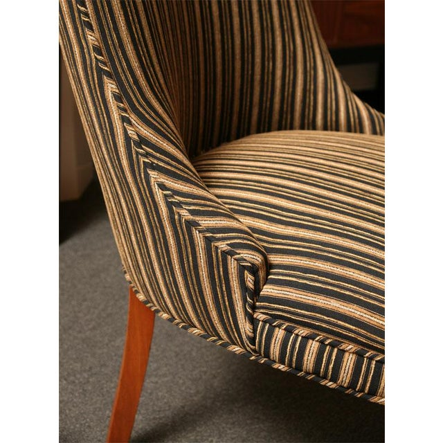 Image of Sleek Tailored 40's Slipper Side Chairs