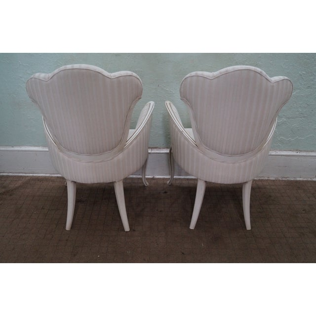 Hollywood Regency Fireside Host Accent Chairs - Image 4 of 10
