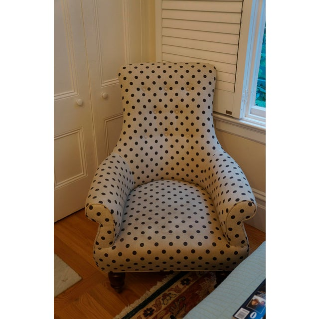 Anthropologie Brown Polkadot Astrid Chair - Image 8 of 11