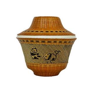 Bamboo & Porcelain Gaiwan Tea Cup