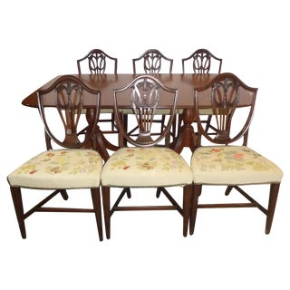 Mahogany Duncan Phyfe Dining Set with 6 Chairs