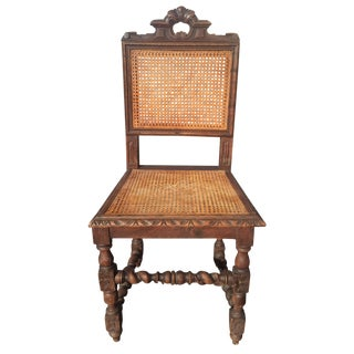 Jacobean Era Carved Cane Dining Chairs - Set of 5