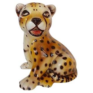 Capodimonte Baby Leopard Figurine
