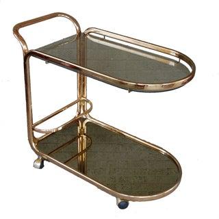 Vintage Gold Tone Bar Cart