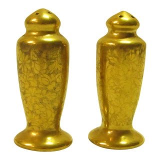 Gold Stouffer Salt & Pepper Shakers - A Pair