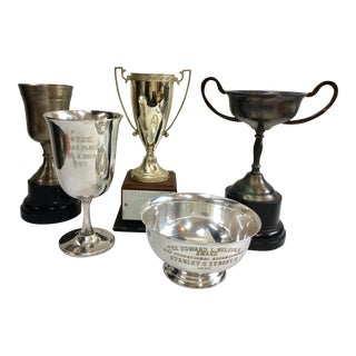 Vintage 1970s Silver Trophy Coupes - Set of 5