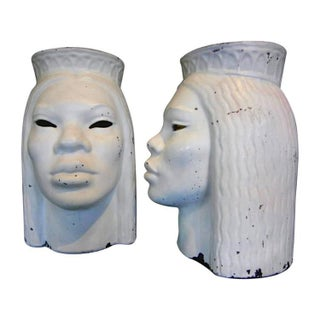 Art Deco Head Vases - A Pair