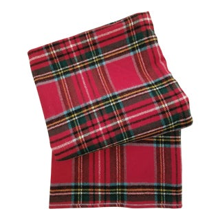Royal Stewart Plaid Wool Blanket