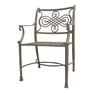 Woodard Landgrave Cast Classics Aluminum Outdoor Patio Armchair