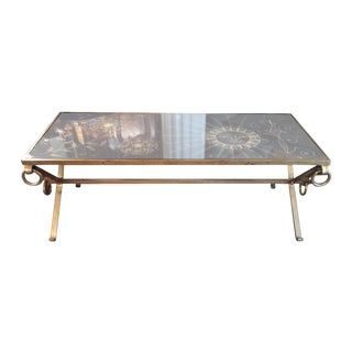 1950's French Gilt Iron Cocktail Table