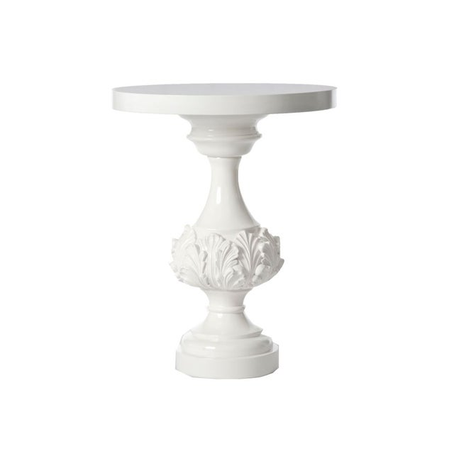 Image of Barbara Cosgrove Jacqui Side Table in Gloss White