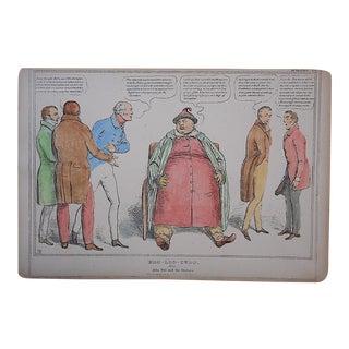Antique British Satire-Lithograph