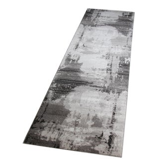 Contemporary Abstract Gray Runner - 2'8''x10'