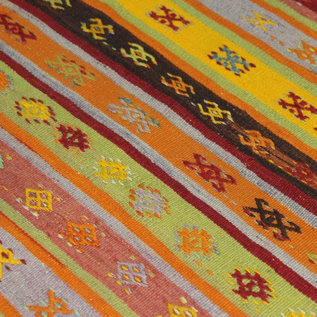 Turkish Handmade Anatolian Kilim Rug - 1′9″ × 3′5″ - Image 5 of 6