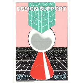 John van Hamersveld-Design Support-1980 Lithograph