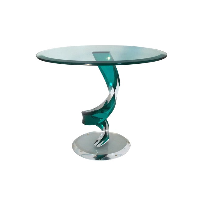 Haziza Lucite Oval Side Table - Image 5 of 5