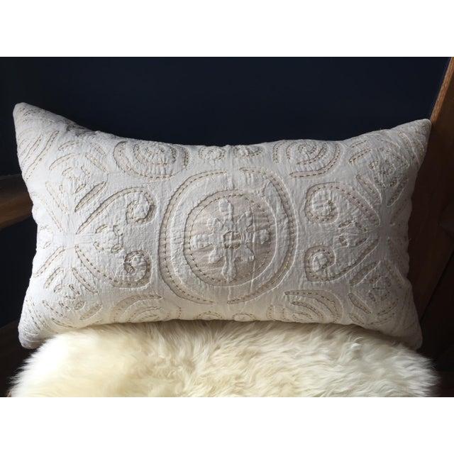 """Well-Traveled"" Suzani Pillow - Image 2 of 4"