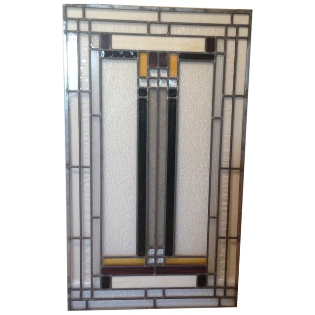 Craftsman Style Stained Glass Panel - Image 1 of 10