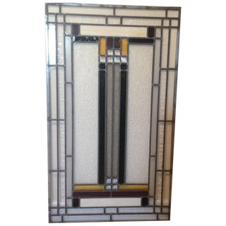 Craftsman Style Stained Glass Panel