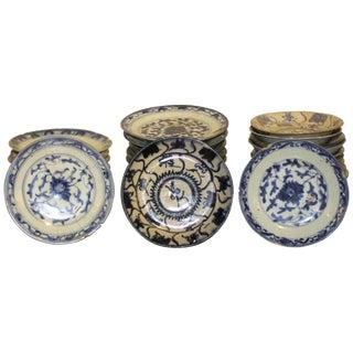 Vintage Sarreid LTD Blue & White Plates - Set of 65
