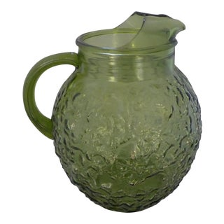 Mid-Century Avocado Green Pitcher