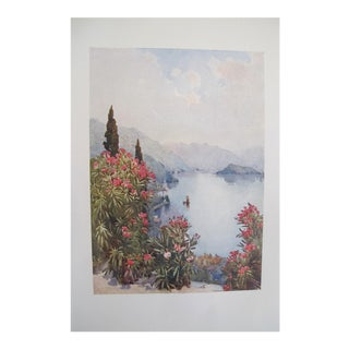 1905 Ella du Cane Print, A Garden by the Lake, Lago D'Orta