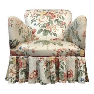 Vintage Floral Upholstered Armchair