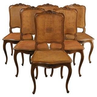 Antique French Louis XV Dining Chairs - Set of 6
