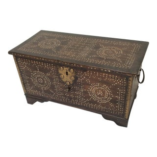 Antique Syrian Trunk With Inlay