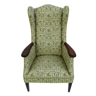 Mid-Century Fireside Wingback Chair