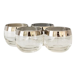 Dorothy Thorpe Roly Poly Silver Rimmed Glasses - Set of 4
