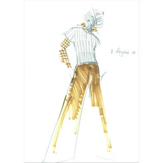 1960's Balmain Fashion Illustration